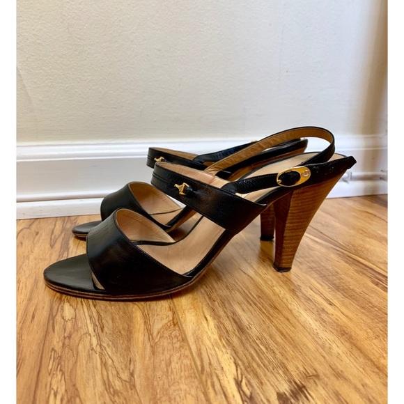 Gucci Shoes - Vintage Gucci Black Slingback Heels